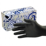 Amercare Ninja Powder-Free Black Latex Gloves
