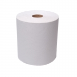 White Roll Towels (630 ft per roll) 6 rolls per case